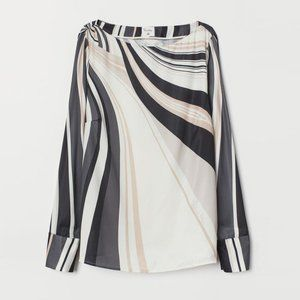 H&M x Richard Allan Satin Boat Neck Blouse